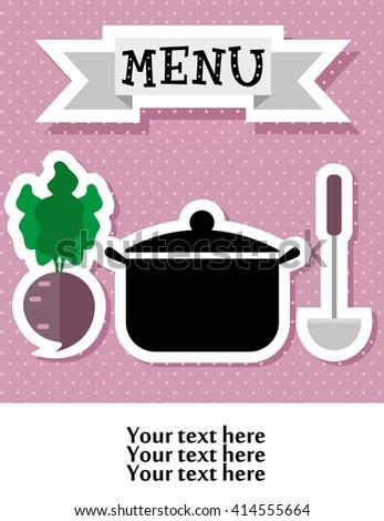 cute kitchen pattern. vector illustration - stock vector
