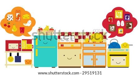Cute Kitchen Vector Stock 29519131