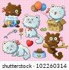 Cute Kitty - stock vector