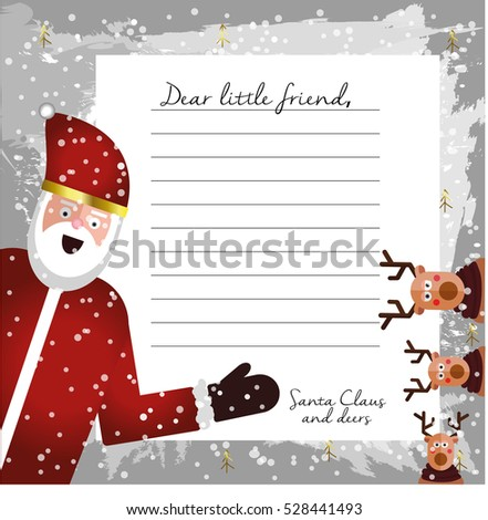 Cute letter santa claus design template stock vector 528441493 cute letter from santa claus design template beautiful vector illustration with flat character santa spiritdancerdesigns Images