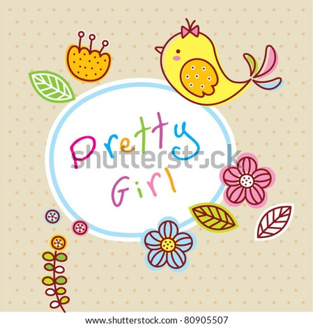 cute little baby tag - stock vector