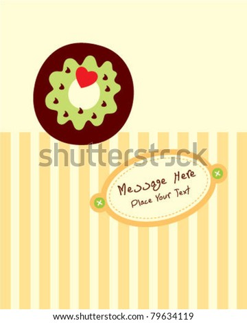 cute little donuts greeting card