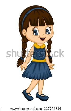 Cartoon Girl Stock Images, Royalty-Free Images & Vectors ...