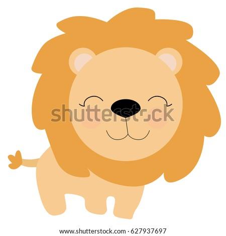 Cartoon baby lion
