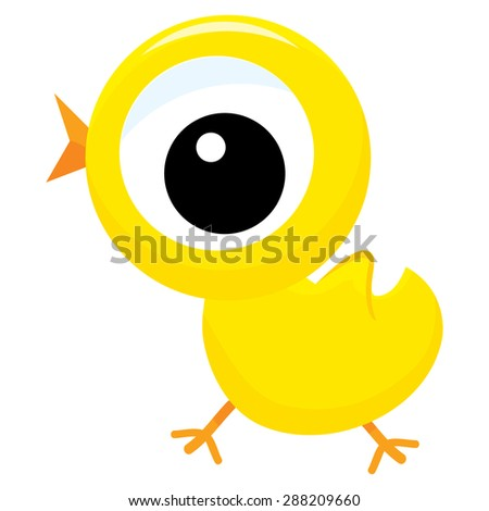cute little yellow cartoon baby chick stock vector hd royalty free rh shutterstock com cartoon baby chicken cartoon baby chicken pictures