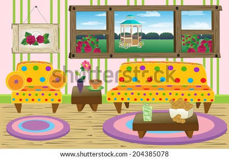 Cute Living Room Scene/Happy Living Room/Colorful Living Room Scene. Things  Are Part 69