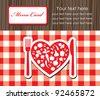 cute menu card. vector illustration - stock vector