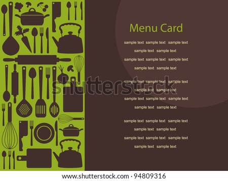cute menu card. vector illustration - stock vector