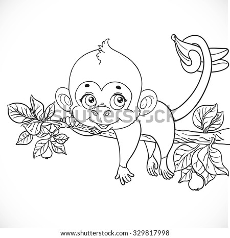 Monkey Swing For Coloring Coloring Pages