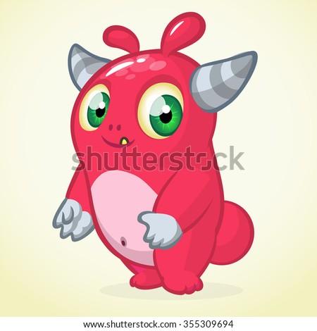 Cute monster cartoon - stock vector