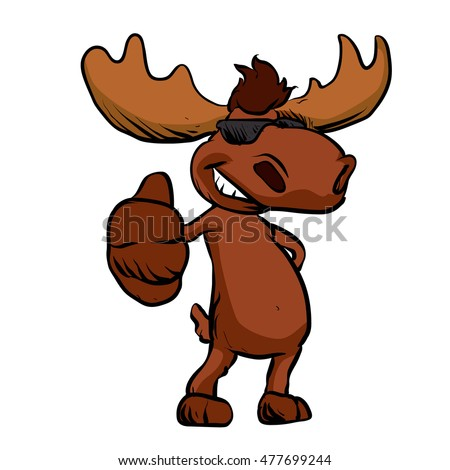 Cute Cartoon Moose Sto...