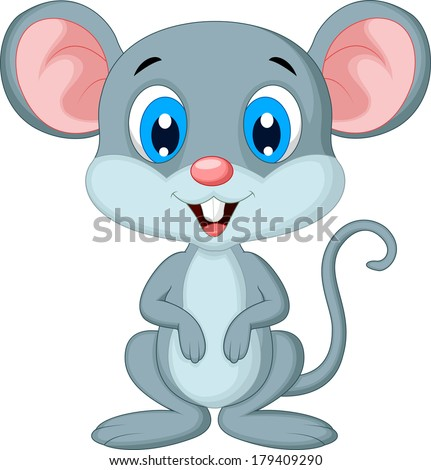 Cute mouse cartoon - stock vector