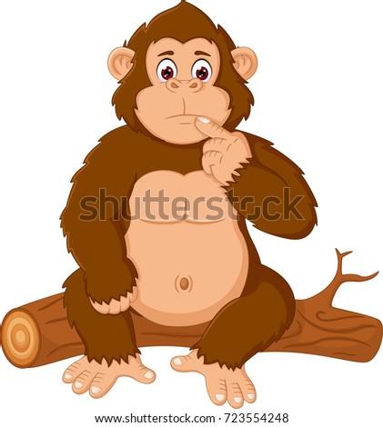 Orangutan Cartoon Orangutan Stock...
