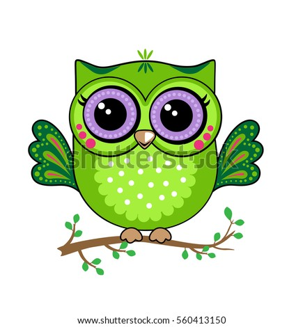 Cute owl stock vector 560413150 shutterstock cute owl voltagebd Image collections