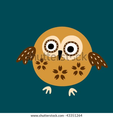cute owl card