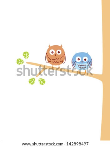 cute owl couple
