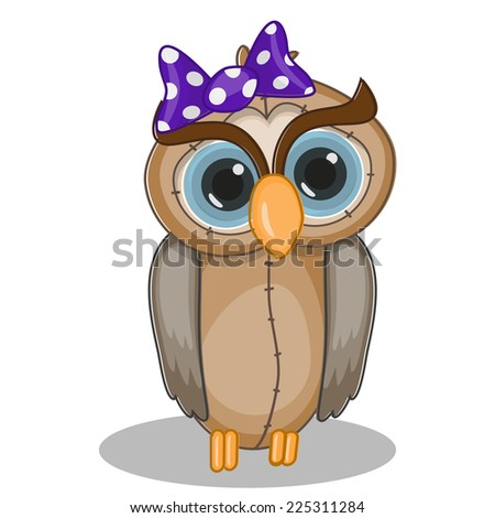 Cute Owl isolated on a white background  - stock vector
