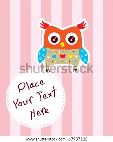 cute owl message