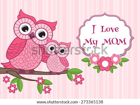 Cute owl on the colorful background.  Vector print for children wear.  - stock vector