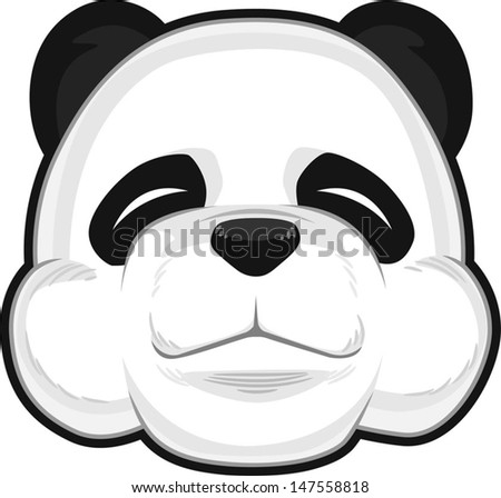 Cute Panda - stock vector