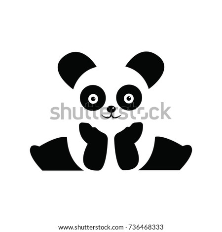 cute panda bear logo