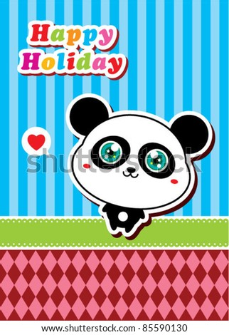 cute panda holiday
