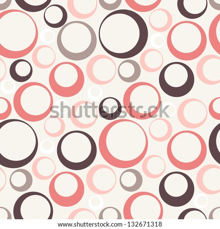 Cute pastel pattern. Seamless texture with rings. Abstract background - stock vector