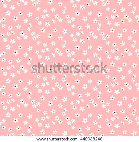 Cute pattern small flower small white stock vector 440068240 cute pattern in small flower small white flowers pastel pink background ditsy floral mightylinksfo