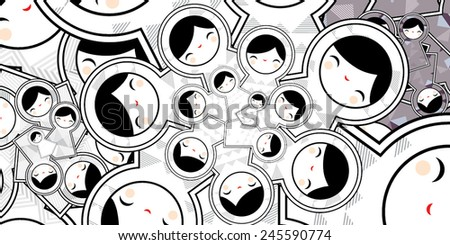Cute Pattern With Geometric Matryoshka Babushka Dolls - stock vector