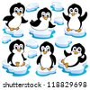 Cute penguins collection 2 - vector illustration. - stock vector