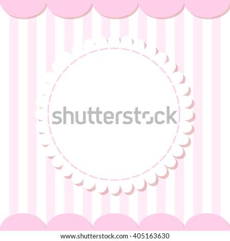 Cute photo frame. Baby shower card. Scrapbook elements. Vector cute illustration . Happy birthday card. - stock vector