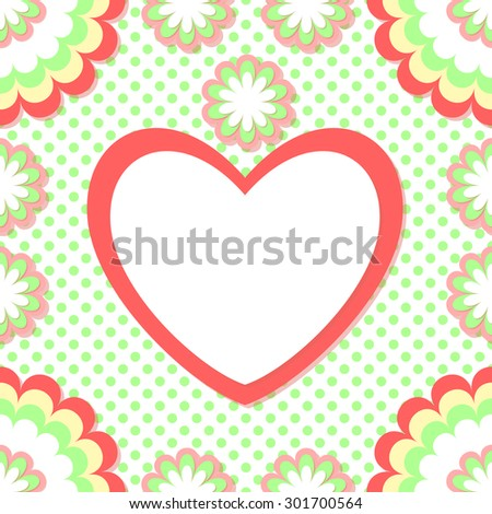 Cute photo frame. Used clipping mask. Baby shower card. Scrapbook elements. Happy birthday card.  - stock vector
