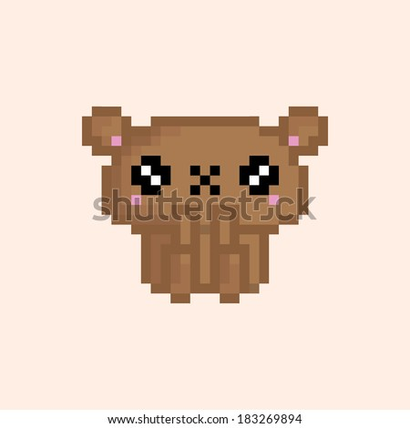 Cute Pixel Animal Character