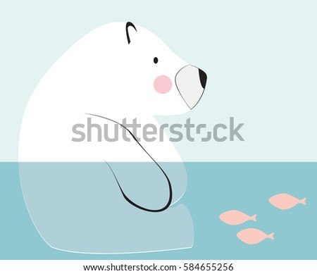 Polar Bear Sitting Down