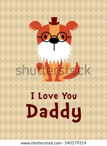 cute puppy dog i love you daddy gift card