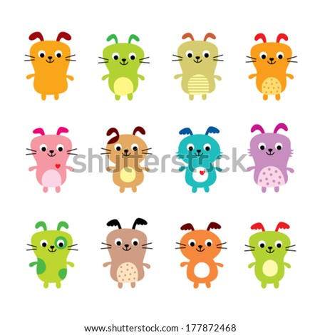 cute puppy vector collection