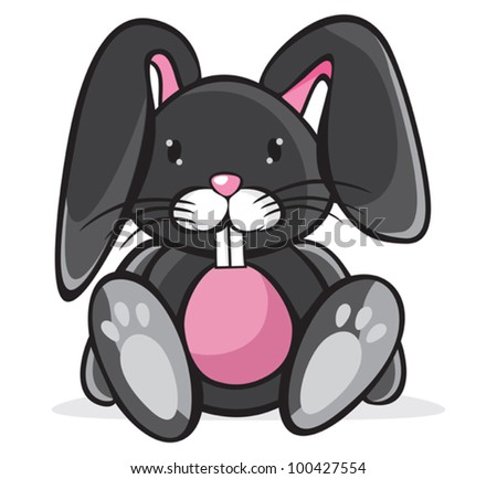 Cute Rabbit - stock vector