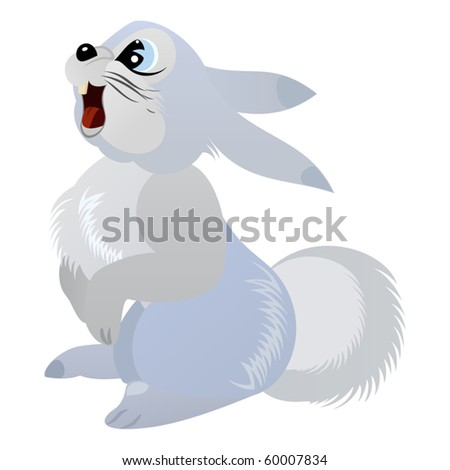 Cute Rabbit - sign of the New 2011 Year - stock vector