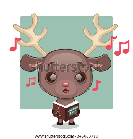 Cute Reindeer Stock Photos, Royalty-Free Images & Vectors ...