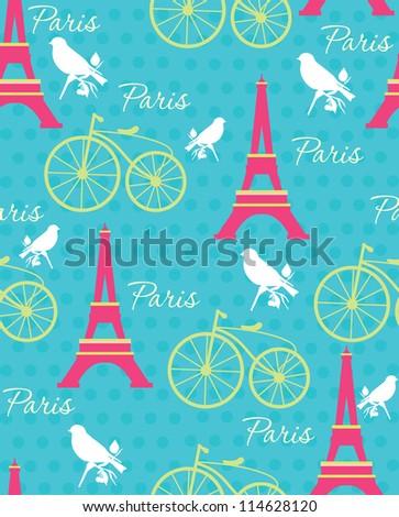 cute retro pattern. vector illustration - stock vector