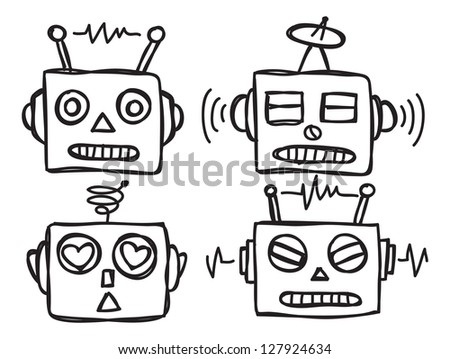 Cute Robot Doodles Cute Robot Face