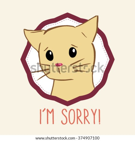 Saying Sorry Stock Vectors, Images & Vector Art | Shutterstock