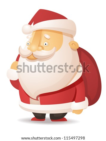 Cute Santa Claus - stock vector