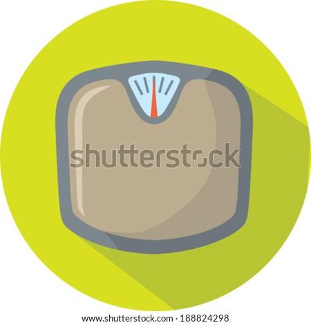 Cute Scale icon - stock vector
