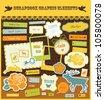 cute scrapbook elements. vector illustration - stock vector