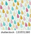 Cute seamless childish texture. Endless ornamental pattern with drops. Template for design fabric, covers, backgrounds, package - stock vector