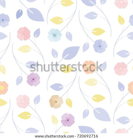 Cute seamless floral pattern simple flowers cute seamless floral pattern simple flowers background for fabric wrapping wallpaper paper voltagebd Images