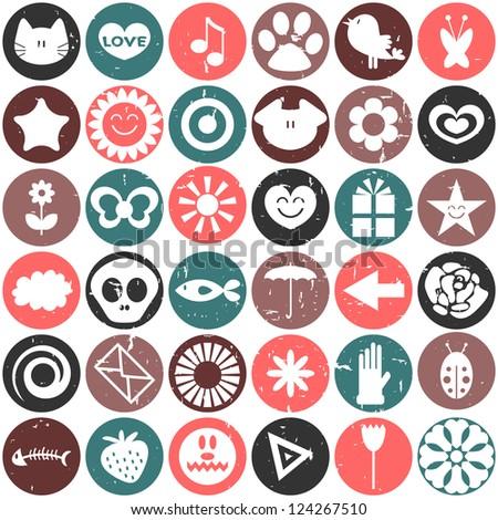 Cute seamless pattern design - stock vector