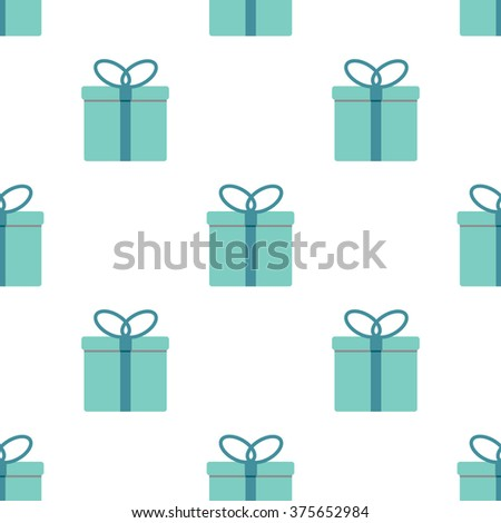 Cute seamless pattern with colorful gifts on white background.