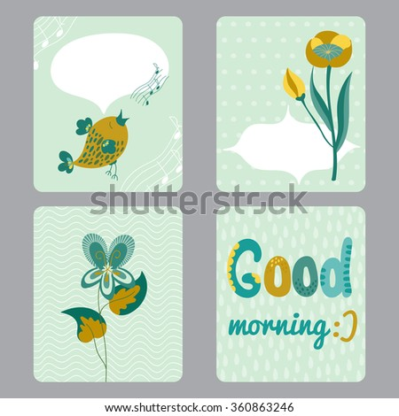 Cute set printable templates greeting cards stock vector hd royalty cute set of printable templates for greeting cards design baby shower notes brochures m4hsunfo